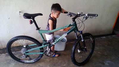 清洗自行车也是学习的一部分